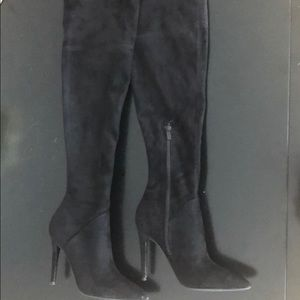 Kendall + Kylie over-the-knee black boots size 7